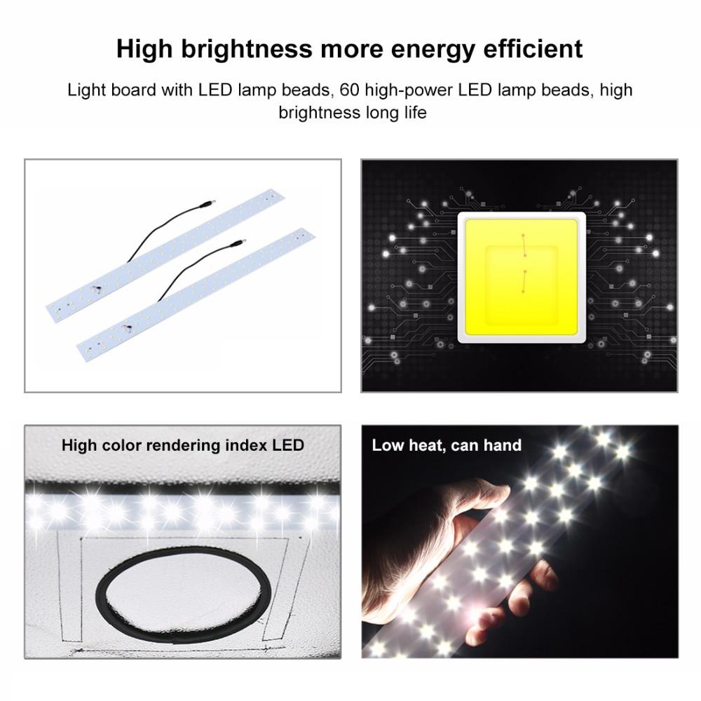 PULUZ 1PCS 30W 5500K or 60W 1690LM 5500K White Light LED light Board For 40 CM or 60 CM photo studio box Extra Light strip fggs shoelaces light for shoes 60 cm white