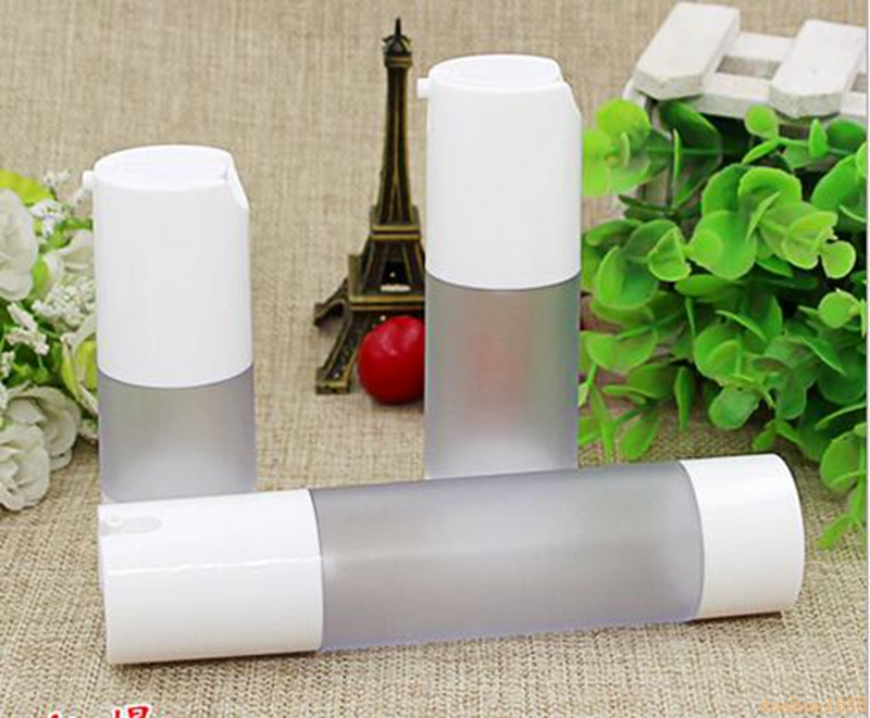 15ml 30ml 50ml Airless Bottle Frosted Vacuum Pump Lotion Refillable Bottles Used for Cosmetic Container 300pcs/lot #12112 цена