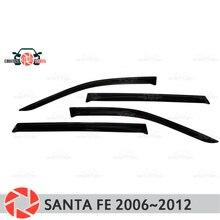Окно дефлектор для hyundai Santa Fe 2006 ~ 2012 дождь дефлектор грязи Защитная оклейка автомобилей украшения интимные Аксессуары Литья