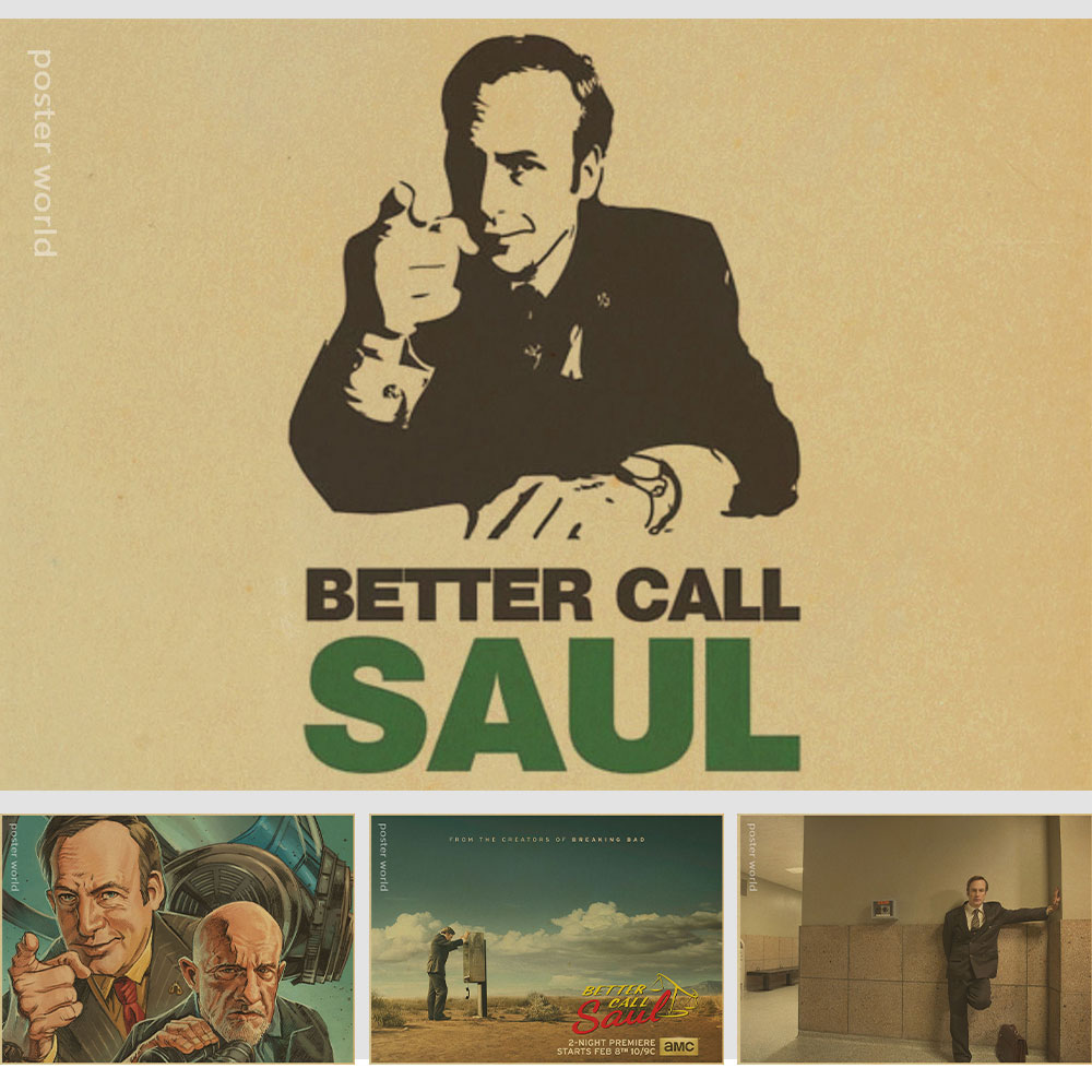 Better Call Saul Tv Show Retro Poster Breaking Bad Bob Odenkirk Movie Art Wall Decor Fabric