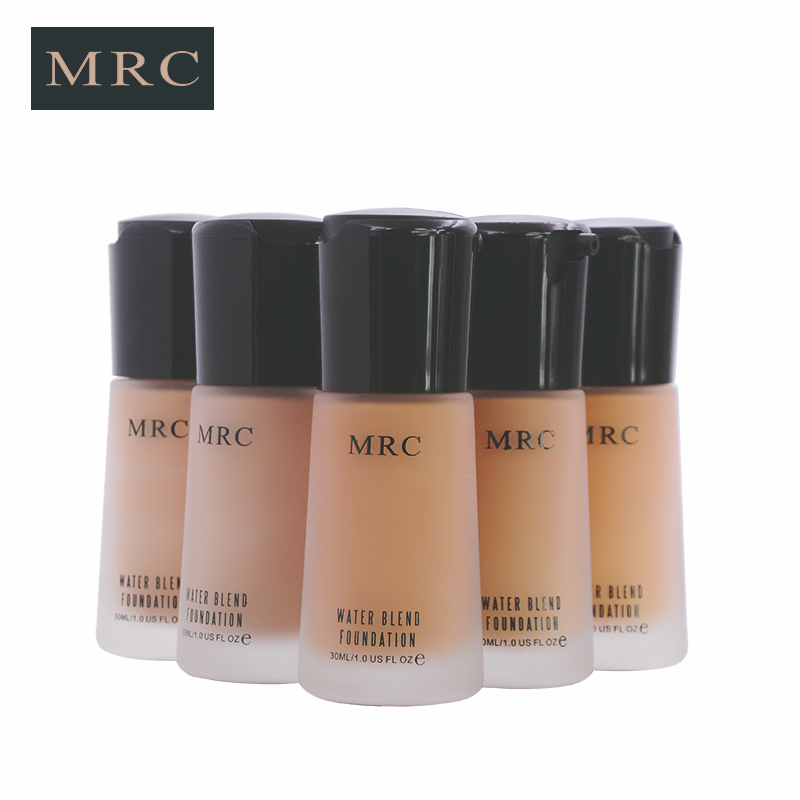 MRC Full Coverage Make Up Fluid Concealer Whitening Moisturizer Oil Control Waterproof Liquid Foundation