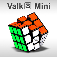 QIYI New Valk 3 Mini 4 74cm PVC Sticker Magic Cube Professional Competition Speed Puzzle Cube