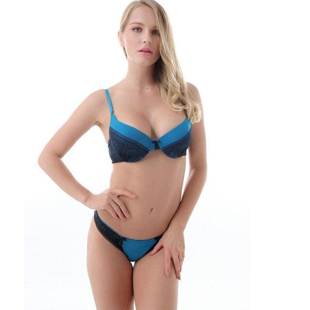 39f81754b918d New Women Push up Bra Set Sexy Lace Bralette Lace Thong Women Underwear Bra    Brief