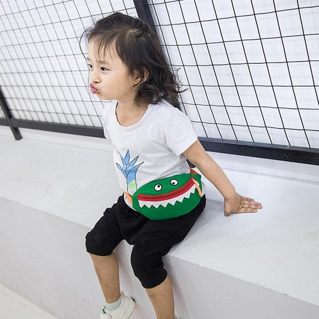 NIBESSER Children Waist Packs Kid Fanny Bag Cartoon Animal Shark Chest Bag For Boy Girl Baby Money Waist Bags Belt Kawaii Bag
