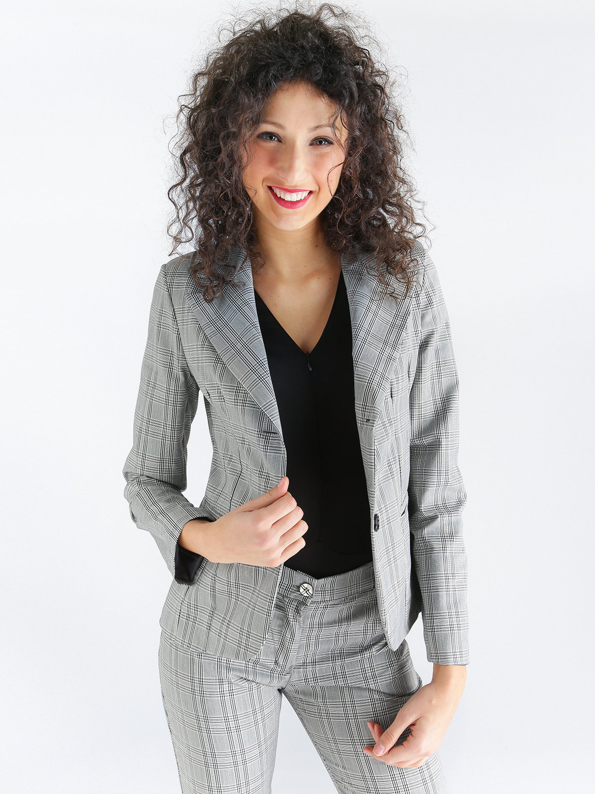 Jacket Blazer Plaid