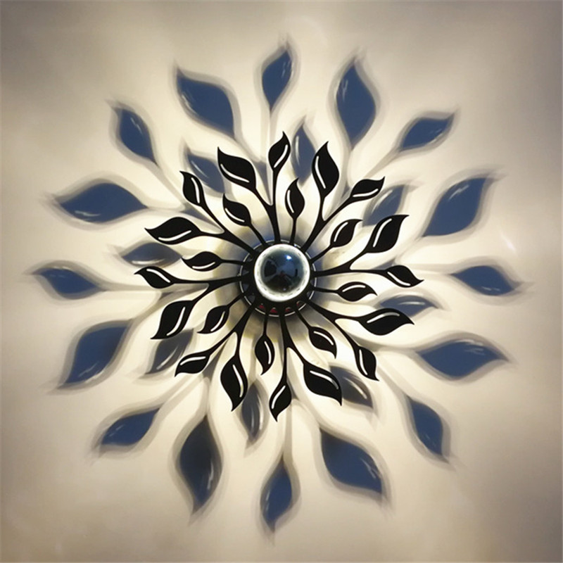 Modern Creative Concise Art Flower Wall Light Restaurant Livingroom Bedroom Studyroom Decoration Light Free Shipping cnc engine cover cross derby