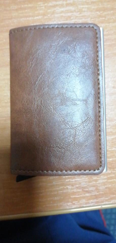 Metal Men Card Holder RFID Aluminium Alloy Credit Card Holder PU Leather Wallet Antitheft Men Wallets Automatic Up Card Case