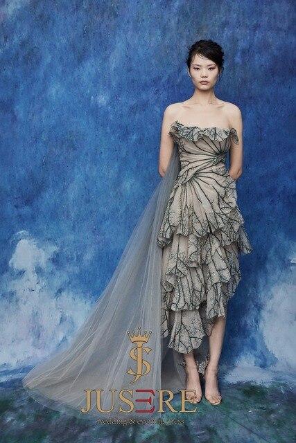 JUSERE 2019 SS FASHION SHOW Beautiful Strapless Short Homecoming Dress Knee Length Party Dresses Vestido De Festa 1