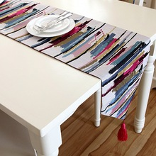 Oil Painting Table Runners Hotel Sofa Protective Cloth Cover Dustproof Home Textile 32