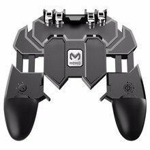 AK66 шесть пальцев PUBG игровой контроллер геймпад металлическая кнопка пуска стрельба Бесплатный огонь геймпад джойстик для IOS Android мобильный телефон