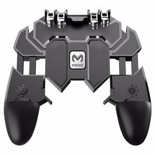 AK66 Six Fingers PUBG Game Controller Gamepad Metal Trigger Shooting Free Fire Gamepad Joystick For IOS Android Mobile Phone(China)