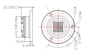 Image 5 - HIFIDIY CANLı hifi 2.5 inç Tweeter Hoparlör Ünitesi Hava Hareket 8OHM 30 W Tiz Hoparlör AMT 65 Süper kemer tipi yüksek hoparlör