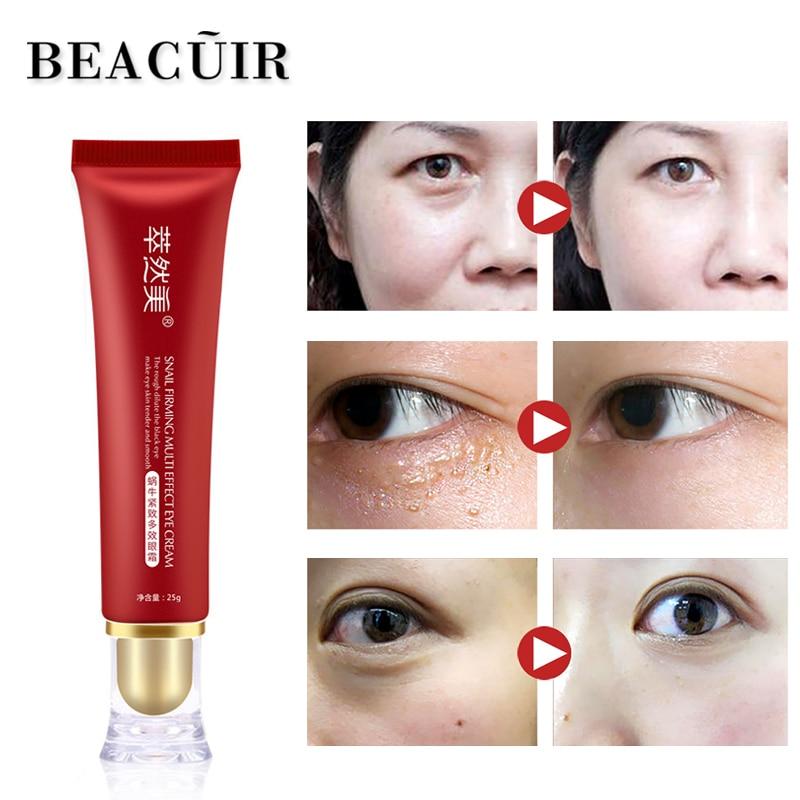 BEACUIR 100% Snail Serum Repair Eye Cream Eye Care Ageless Moisture Dark Circles Anti Puffiness Anti Aging Skin Whitening Care