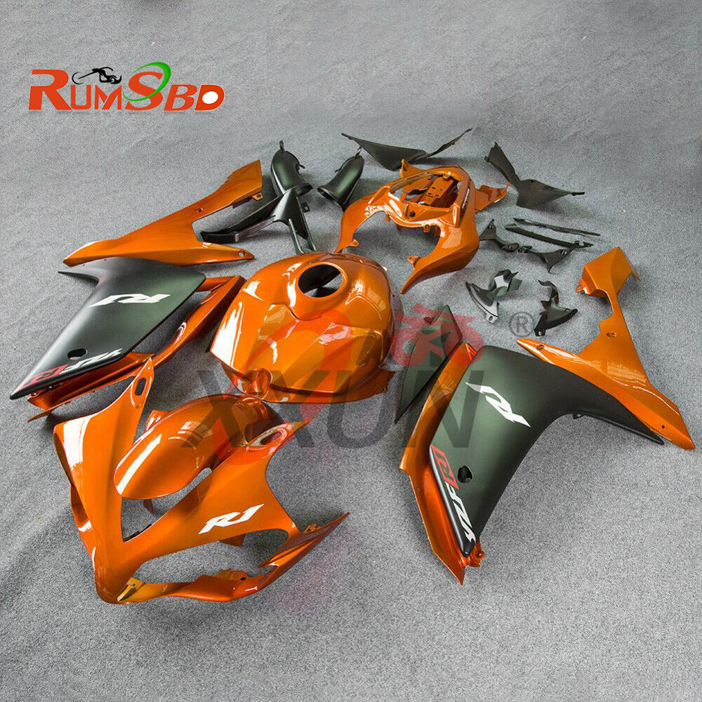 Injection Fairing for Yamaha YZF R1 YZF-R1 1000 2007 2008 Complete Full Bodywork Kit Plastic Motorcycle Accessories Orange Black