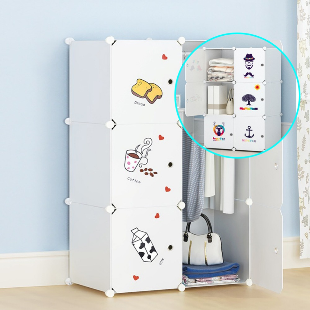 Plastic Kledingkast Met Rits.Plastic Kledingkast Opbergkast 12 Cube Grijpende Kleding Speelgoed