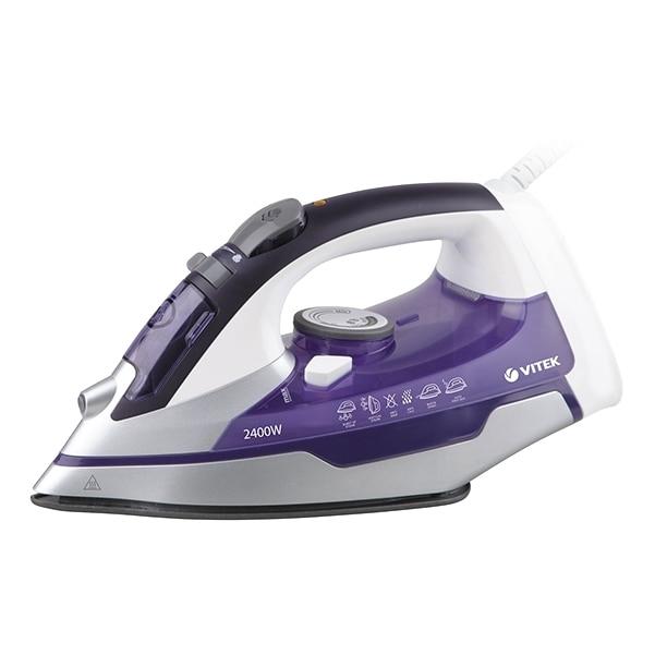 Iron Vitek VT-1257 VT (Power 2400 W, water tank 300 ml, vertical steaming, steam, self-cleaning, anti-scum, ceramic sole) недорого