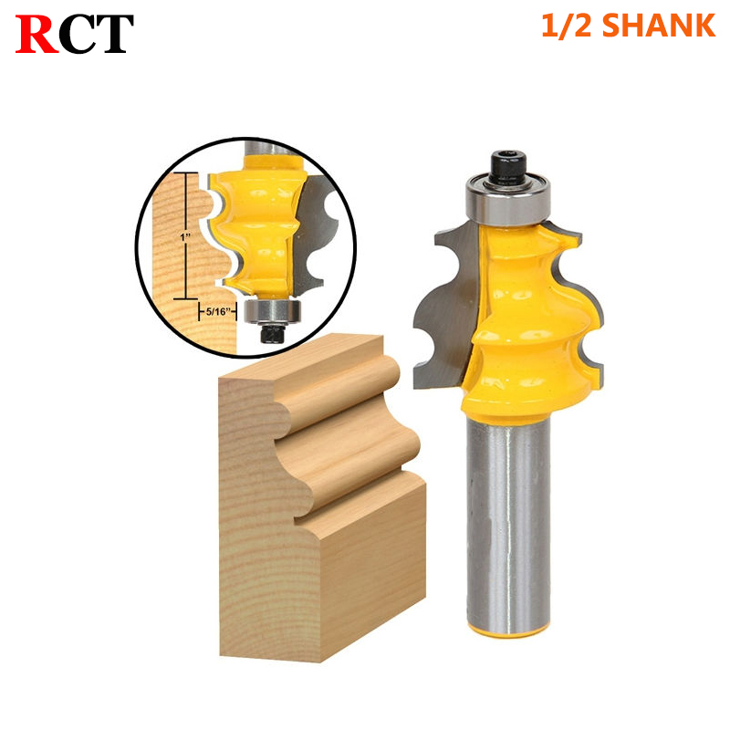 1PC Architectural Molding Router Bit - 1/2 Shank Line knife Woodworking cutter Tenon Cutter for Woodworking Tools high grade carbide alloy 1 2 shank 2 1 4 dia bottom cleaning router bit woodworking milling cutter for mdf wood 55mm mayitr