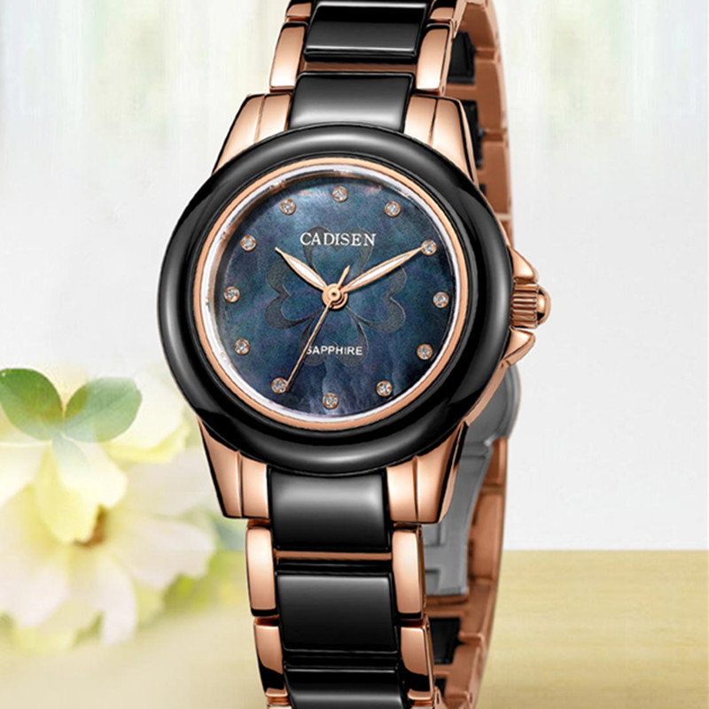 C ADISENสุภาพสตรีนาฬิกาผู้หญิงยี่ห้อยอดนิยมชื่อDe Luxeสาวที่เดินทางมาพักผ่อนเซรามิกนาฬิกาข้อมือนาฬิกาสุภาพสตรีนาฬิกาRelógio Femininoนาฬิกา-ใน นาฬิกาข้อมือสตรี จาก นาฬิกาข้อมือ บน   3