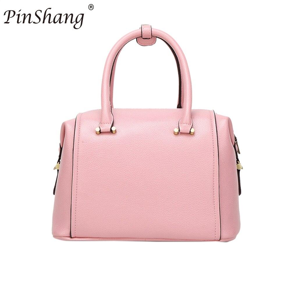 PinShang Women Fashion Waterproof PU Satchel Handbag Single Shoulder Oblique Cross Bag with Removable Shoulder Strap ZK30
