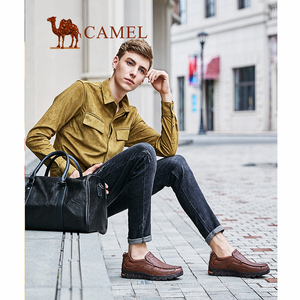 Image 4 - גמלים נוח גברים נעלי עור אמיתי חיצוני מקרית גברים של מוקסינים זכר ביש הנעלה Mocasin Hombre