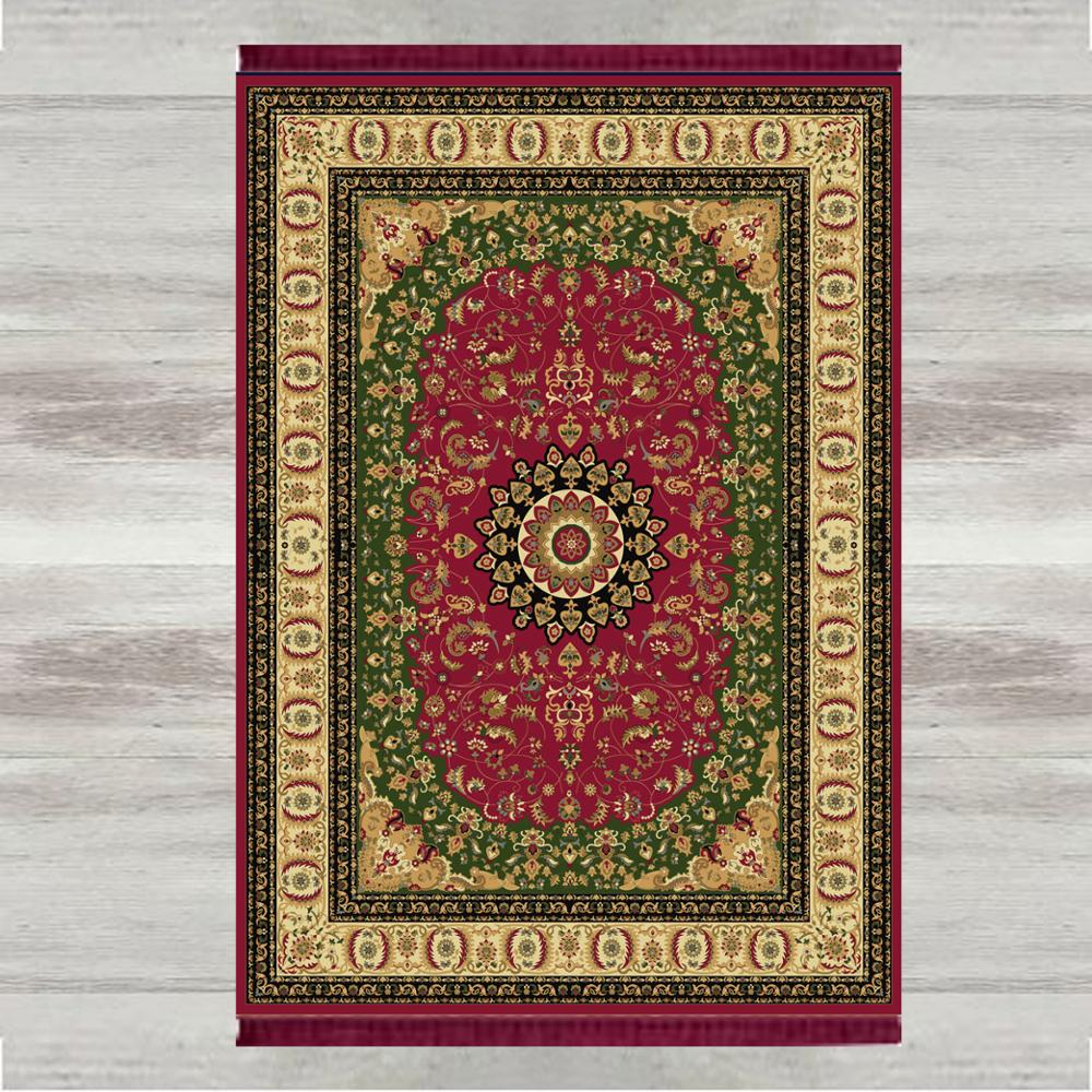 Else Green Red Tradional 3d Print Turkish Islamic Muslim Prayer Rugs Tasseled Anti Slip Modern Prayer Mat Ramadan Eid Gifts