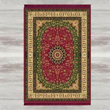 Else สีเขียวสีแดง Tradional 3D พิมพ์ตุรกีอิสลามมุสลิมพรม Tasseled Anti SLIP โมเดิร์นเสื่อสวดมนต์ Ramadan Eid ของขวัญ