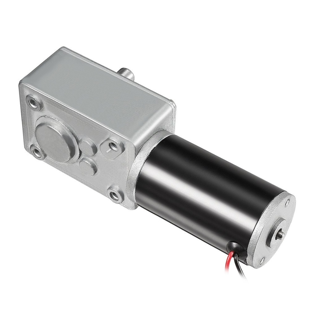 цена на UXCELL DC 12V 110RPM Worm Gear Motor 8kg-cm Reversible High Torque Speed Reduce Turbine Electric Gearbox Motor 8mm Shaft Motor