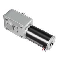 UXCELL DC 12V 110RPM Worm Gear Motor 8kg cm Reversible High Torque Speed Reduce Turbine Electric Gearbox Motor 8mm Shaft Motor