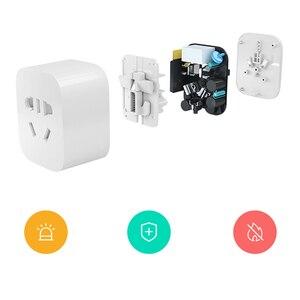Image 3 - Oryginalny Xiaomi MI inteligentne gniazdo wtykowe Zigbee wersja WiFi bezprzewodowy zdalny adapter gniazda przełącznik czasowy zasilania włączanie i wyłączanie z telefonem