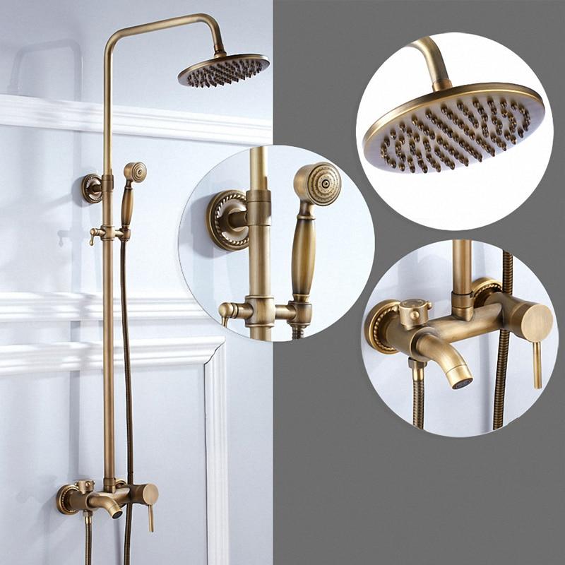 Système de douche de salle de bain, laiton Antique, K80-X1, laiton massif