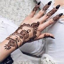 12 Natural Black Mehndi Henna Tattoo Cones