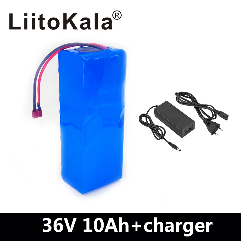 LiitoKala 36V Lithium battery 36V 10AH Electric Bike battery 36 V 20ah 1000W Scooter Battery with 30A BMS 42V 2A charger