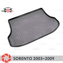 Коврик багажника для Kia Sorento 2003 ~ 2009 багажника коврики Нескользящие полиуретановые грязи защиты багажник Тюнинг автомобилей