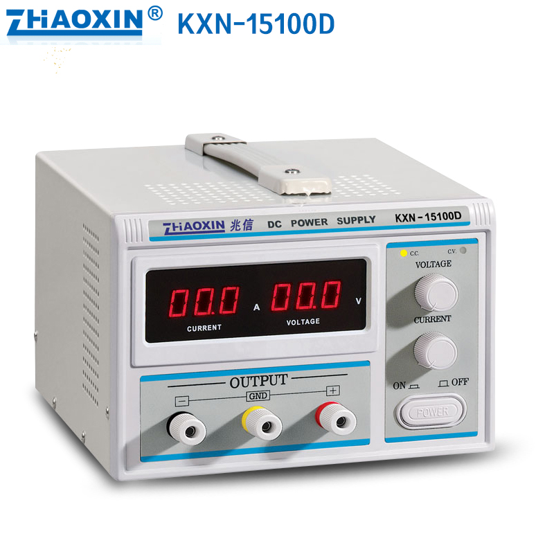 zhaoxin KXN-15100D Switching Regulated Adjustable DC Power Supply SMPS Single Channel 0-15V 0-100A 15100D new kxn 1005d high power switching dc power supply adjustable dc 0 100v 0 5a