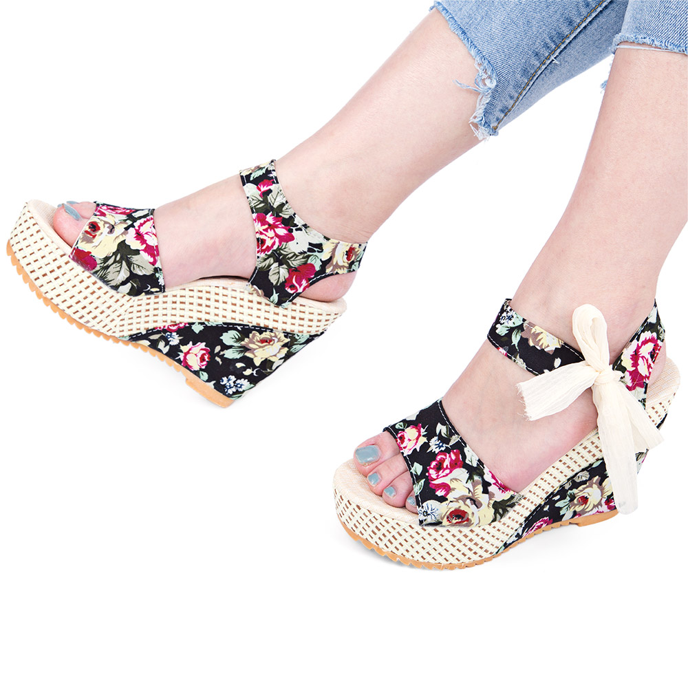 2c0a172b0e3d Insole Material  Rubber Lining Material  PU Season  Summer Weight  0.441kg.  Package Contents  1 x Pair of Women Wedge Heel Sandals