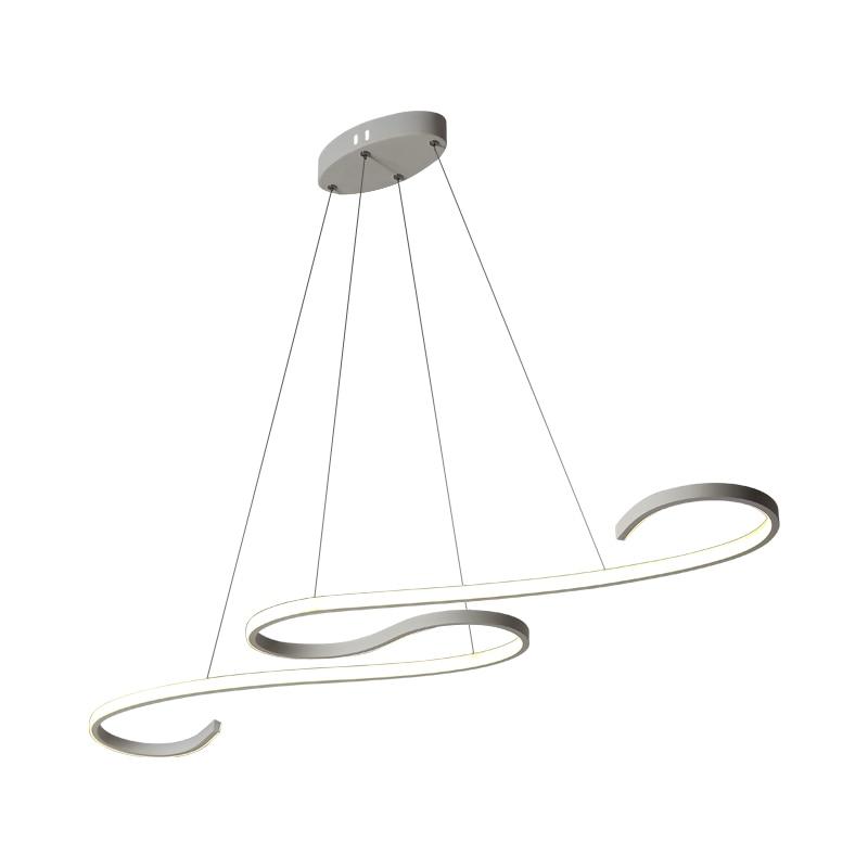 Современные светодиодные подвесные светильники черного/белого цвета для столовой, кухни, бара, акриловые подвесные светильники - 4