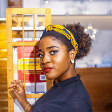 African women headband print cross knot elastic hair accessor girls hairband accessories color random