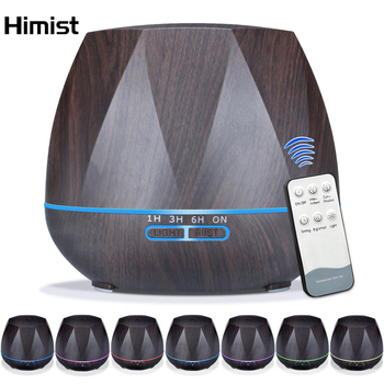 550ML Air Humidifier Aromatherapy Diffuser Ultrasonic Cool Mist Aroma Humidifier LED Light for Home Spa Essential Oil Diffuser 2019 new aromatherapy humidifier 350ml blue light atmosphere aroma essential oil diffuser air diffuser humidifier for home