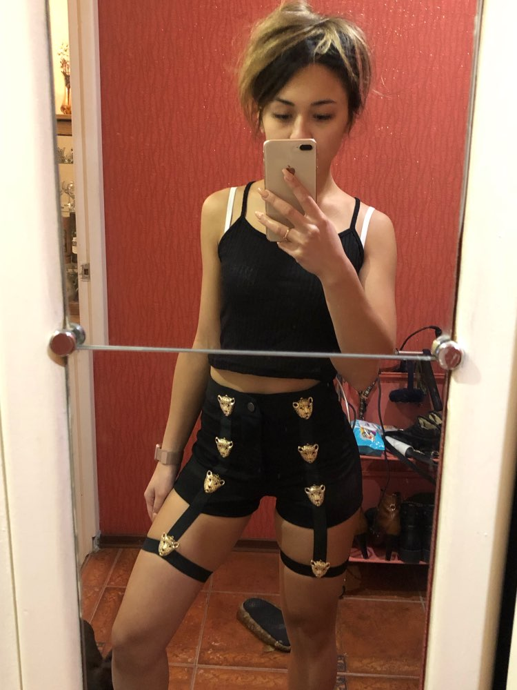 2018 Summer Sexy Ladies High Waist Punk Rock Bandage Hollow Out Dance Show Party Club Hot Shorts
