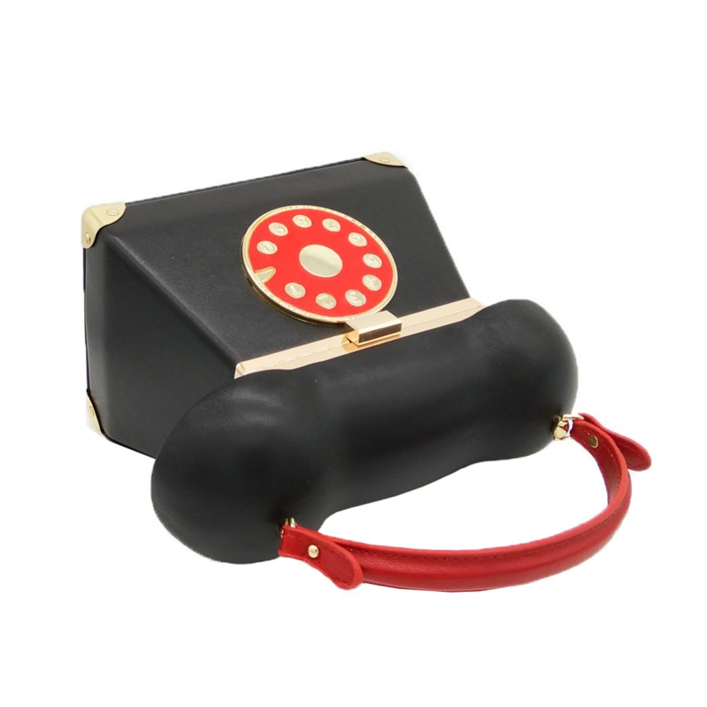 d696aa798770 ROTARY TELEPHONE ACROSS HANDBAG Women's Vintage Retro Old Fashion Novelty Statement  Unique Top Handle Crossbody Clutch Bag-in Clutches from Luggage & Bags ...