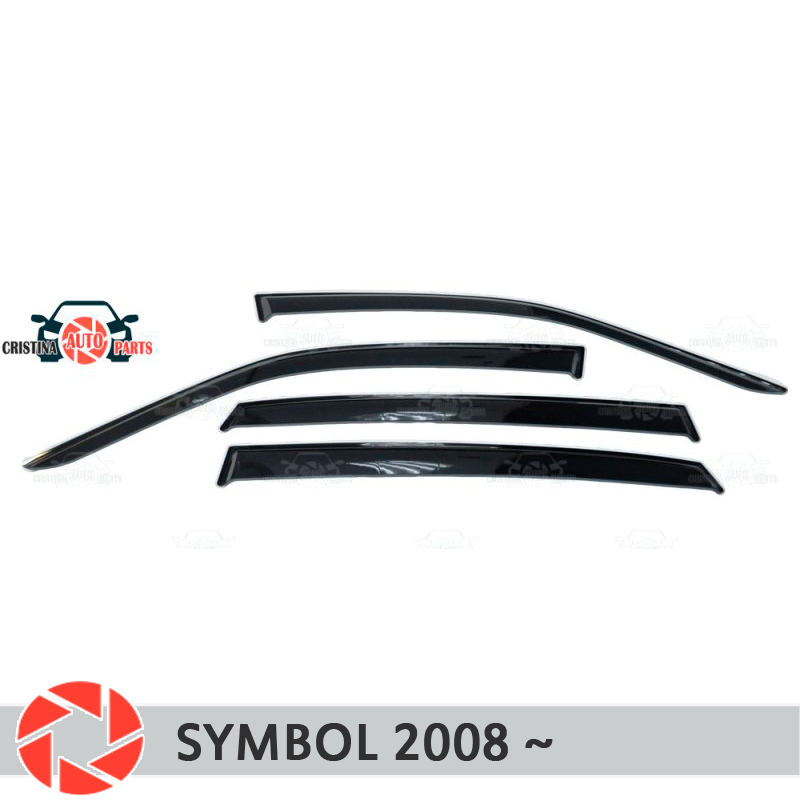 Window deflector for Renault Symbol 2008-2012 rain deflector dirt protection car styling decoration accessories molding scarlet feather