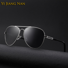 Yi Jiang Nan Brand 2018 New Elegant Fashion Aviator Sunglasses Men Polarized UV400 Gafas de Sol de Los Hombres