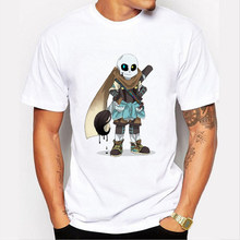 2017 New Animation Skull Undertale Latest Game Short Sleeve Men Hip Hop T-Shirt Slim Fit Tee Shirts Undertale Boy Tee(China)