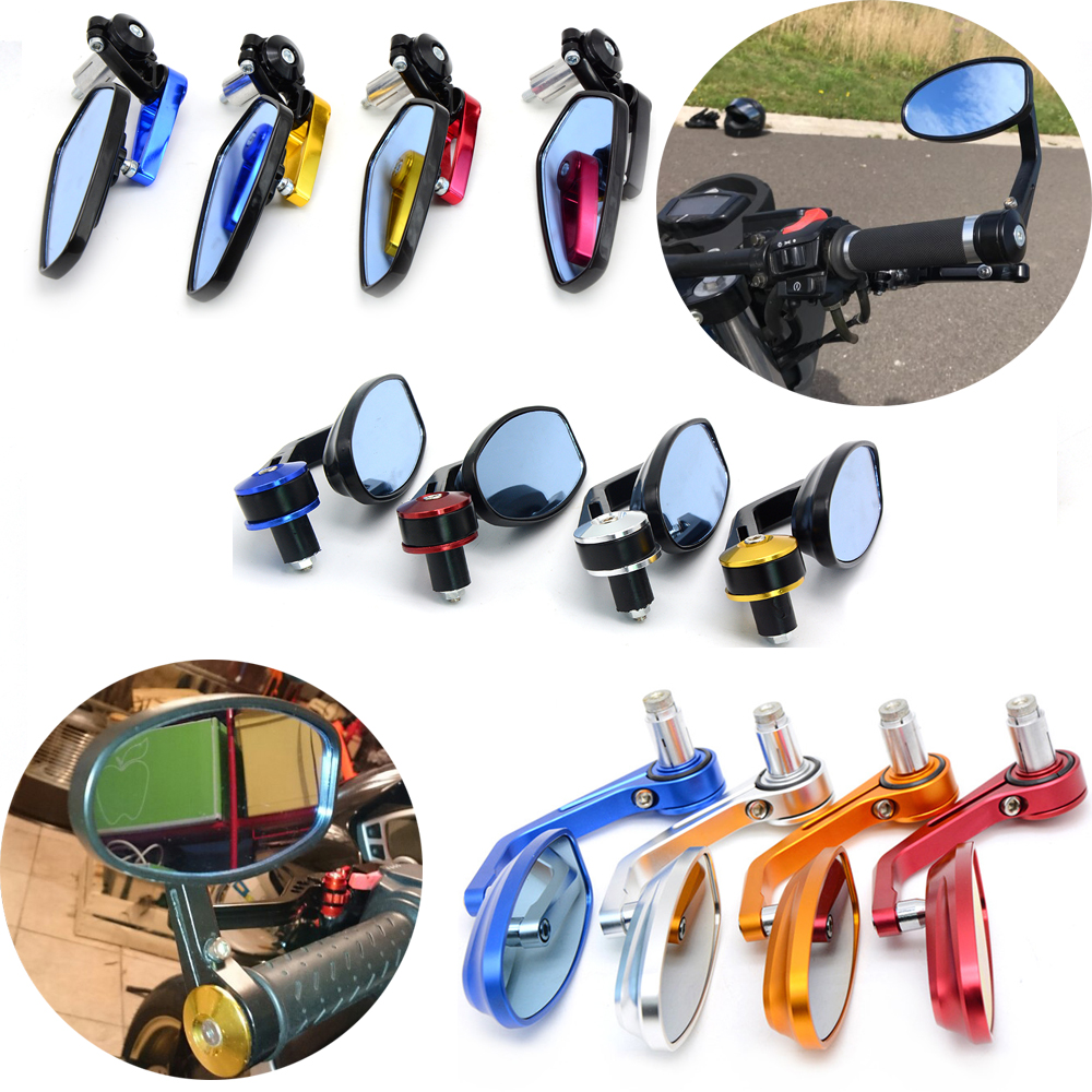 Universal Motorcycle Mirror View Side Rear Mirror 7/8 22mm Handle bar For Kawasaki ER-5 er6n GPZ500S/EX500R NINJA ZX6R ZX7R