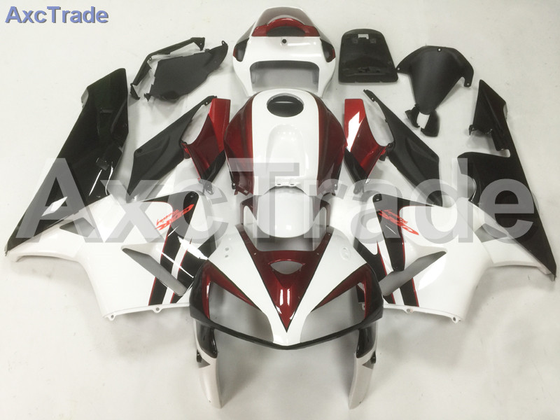 Motorcycle Fairings For Honda CBR600RR CBR600 CBR 600 2005 2006 05 06 F5 ABS Plastic Injection Fairing Kit Bodywork White Red 06 abs injection fairings kit for honda 600 rr f5 fairing set 07 08 cbr600rr cbr 600rr 2007 2008 castrol motorcycle bodywork part