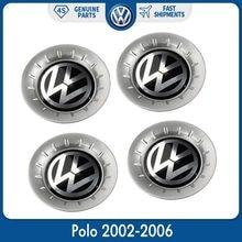 Хромированная Крышка для колеса 140 мм, эмблема в центре, Крышка Ступицы, 4 шт., для VW Volkswagen Polo 2002-2006, 6QD 601 149