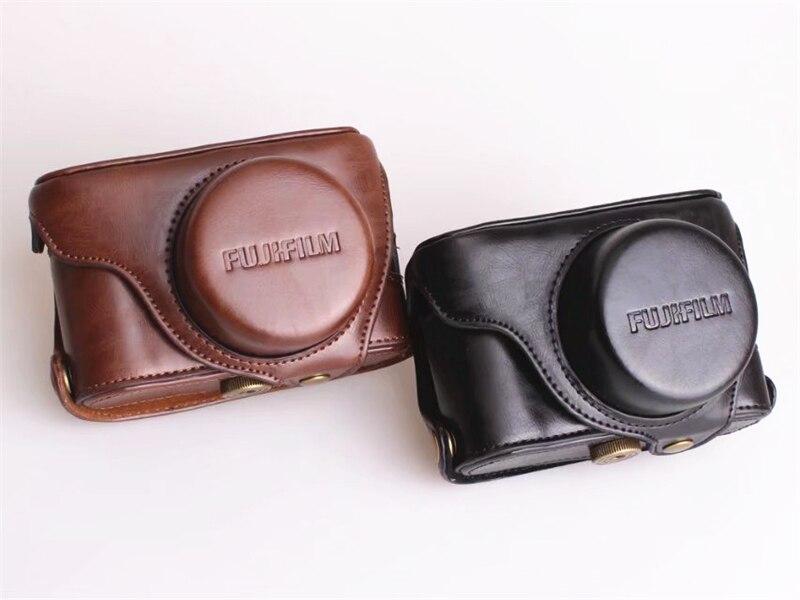 все цены на X100T X100S X100F Camera Video Bag PU Body Case with 1/4 Screw Mount for Fujifilm X100F Digital Camera Accessories онлайн