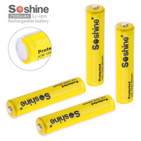 4pc Pack Soshine 10440 AAA 350mAh 3 7V Li Ion Rechargeable Battery With Safety Relief Valve