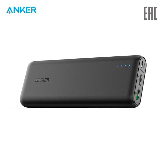 Внешний аккумулятор Anker PowerCore 20000  usb microUSB, портативное зарядное устройство , официальная гарантия, быстрая доставка