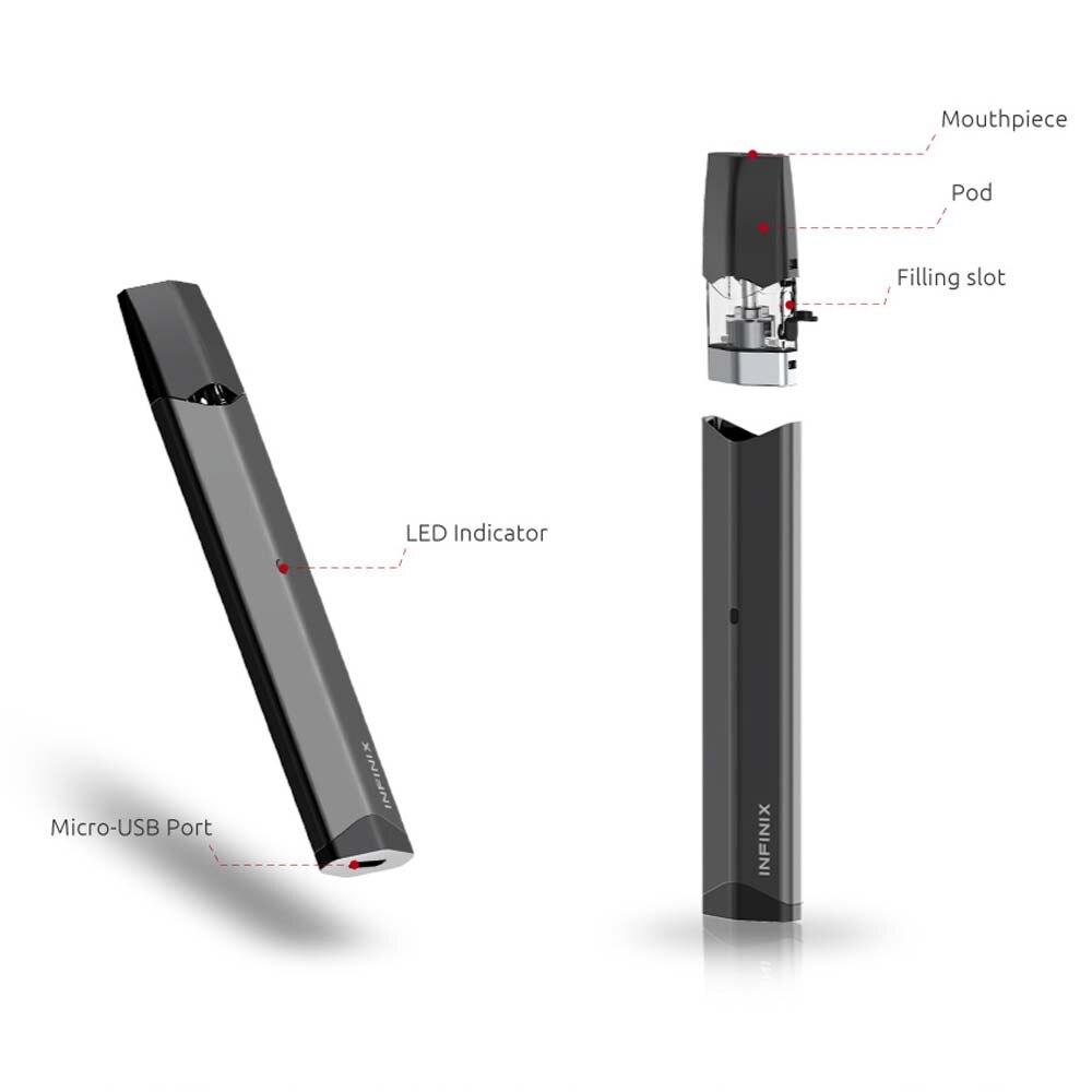 Original Vape Pen SMOK Infinix Kit 250mAh Build-in Battery & 2ml Pod Vaporizer Electronic Cigarette Stater Kit VS Vape Pen 22